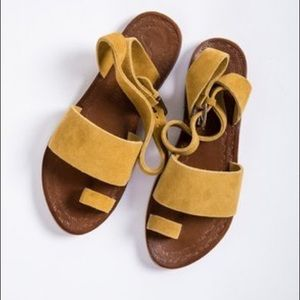 Free People Yellow Sandals